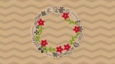 süsleme : Beautiful flower design, Video Animation Stok Video