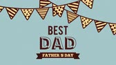 cartão postal : happy fathers day design, Video Animation