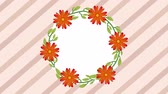 coroa : floral decoration design, Video Animation HD1080