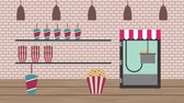 seau : cinéma magasin de nourriture machine pop-corn soda nachos