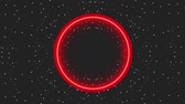etkileri : neon light glowing circle dark dots background animation hd