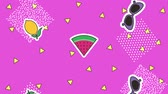 disko : memphis geometric shapes retro patches decoration pop art animation hd Dostupné videozáznamy