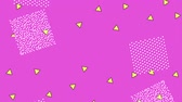 memphis : memphis style motion shapes abstract design pink background animation hd