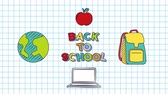 gekritzel : Back to School 4k Animation with icons