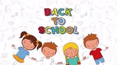 学校 : ,back to school 4k video animation