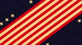 estado : labor day card with USA flag,4k video animation