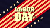 estado : labor day card with USA flag and font ,4k video animation