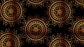 幾何学的配置庭園 : ethnic golden mandalas boho style pattern ,hd video animation 動画素材