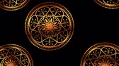 floral ornament : ethnic golden mandalas boho style pattern ,hd video animation Stock Footage