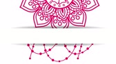 floral ornament : ethnic mandala and decorations hanging boho style, hd video animation Stock Footage