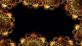 幾何学的配置庭園 : ethnic golden mandalas boho style pattern, hd video animation