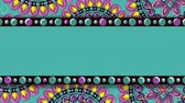 sagrado : ethnic mandalas frame boho style pattern, hd video animation