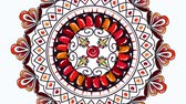 幾何学的配置庭園 : ethnic mandala boho style, hd video animation
