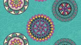 オットマン : ethnic mandalas boho style pattern ,hd video animation