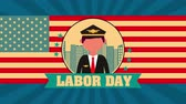 pilote : celebration labor day with pilot animation ,4k video