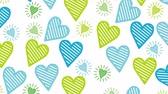 graphic cards : valentines card with hearts love pattern ,hd video animation Stock Footage