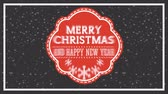 new years invitation : happy merry christmas card with frame ,hd video animation