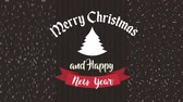 ヒイラギ : happy merry christmas card with pine tree and leafs frame ,hd video animation 動画素材