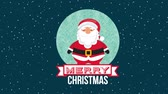 pohlednice : happy merry christmas card with santa claus ,hd video animation