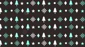 agrifoglio : happy merry christmas pattern background ,hd video animation