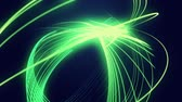 felirat : abstract green neon lines background  Stock mozgókép