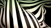 abstract black and white motion background with moving zebra lines loop