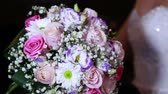 the brides bouquet in the light