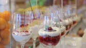 cooking : panacota and other panna cotta desserts - rich choise on vip event