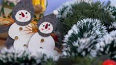 bombki : New Year decorations and decorations Christmas decorations balls ornaments and Santa Claus for the New Year Wideo