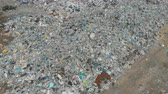 urban waste : A large landfill of polluting the environment. Aerial surveys of polluted territory. Stock Footage