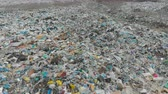 smród : A large landfill of polluting the environment. Aerial surveys of polluted territory. Wideo