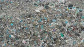 sanitation : A large landfill of polluting the environment. Aerial surveys of polluted territory. Stock Footage
