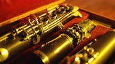 valves : Musical instrument clarinet in box