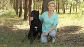 cana : beautiful woman with Cane Corso