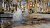식탁보 : beautiful low water fountains hit from the ground at a hotel in Egypt