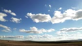 beauty in nature : White Clouds and Blue Sky Timelapse 4K