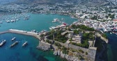 ephesus : Aerial View of Historical Places - Bodrum Castle Stock Footage