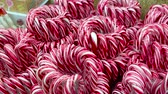 lolipop : lots of candy canes in Christmas store