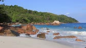 Сейшельские : Beautiful beach Anse Lazio. Island of Praslin in Seychelles. Стоковые видеозаписи