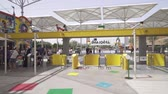 Намибия : Dubai, UAE - April 01, 2018: Dubai Legoland at Dubai Parks and Resorts stock footage video