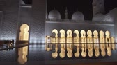 swarovski : Abu Dhabi, UAE - April 04, 2018: Sheikh Zayed Grand Mosque is one of the six largest mosques in the world stock footage video