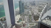эскалатор : Beautiful top view of the Abu Dhabi stock footage video