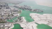 observar : Beautiful top view of the Abu Dhabi stock footage video