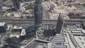 nejvyšší : Dubai, UAE - April 09, 2018: Modern architecture Downtown Dubai view from the top stock footage video