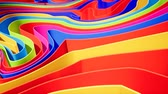 katalog : Colorful wave gradient animation.. Future geometric patterns motion background. 3d rendering