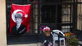 kemal : Waving flags and portraits of Mustafa Kemal Ataturk