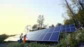 renewable sources : Solar panel installation in Indian village