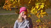 сентябрь : portrait of a beautiful girl in the autumn park