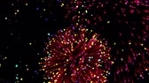 havai fişek gösterisi : Colorful fireworks at celebration night Stok Video