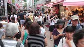 bokeh : Anonymous crowds on Discrit Harajuku in Tokyo